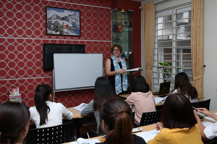 Lớp học tiếng Đức tại trung tâm TRABI