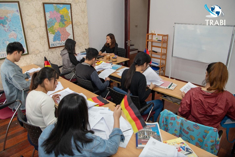 Học viên tiếng Đức tại trung tâm TRABI
