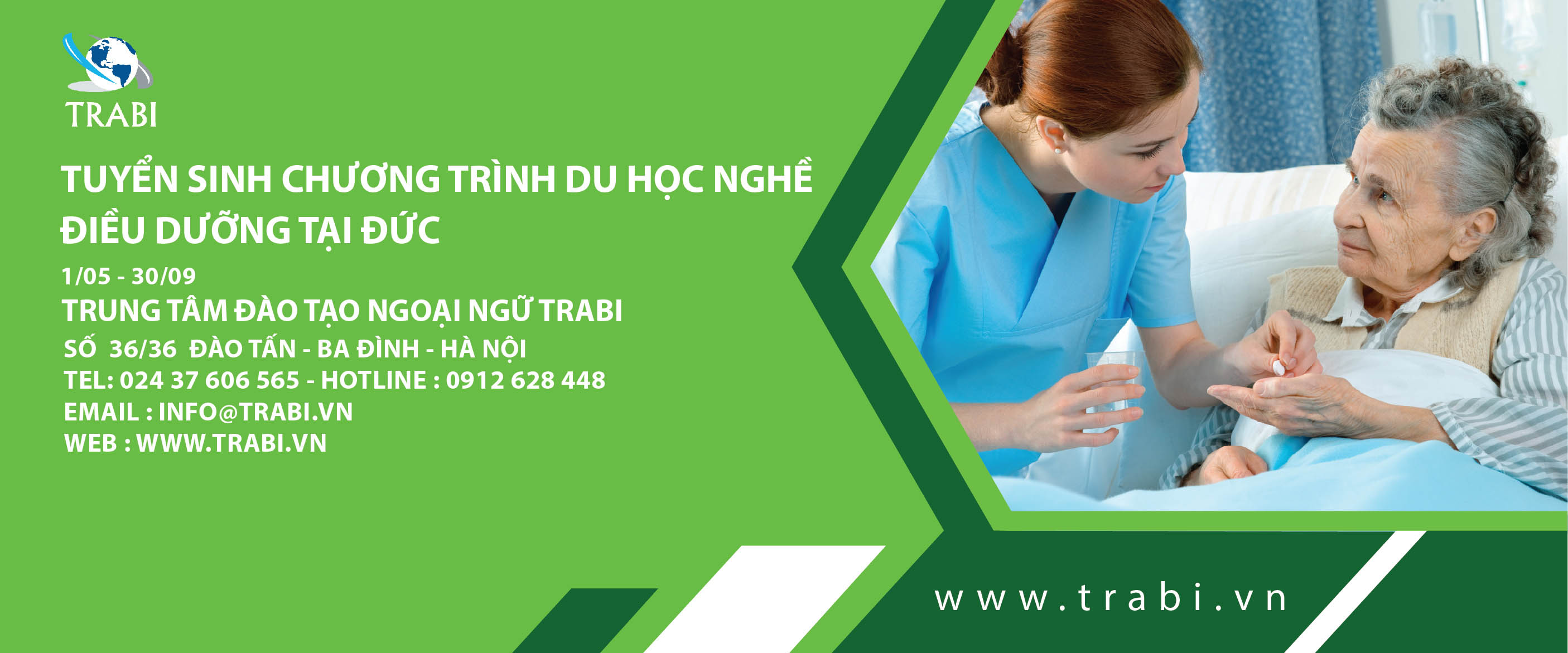 Tham gia chương trình du học nghề điều dưỡng tại Đức cùng TRABI