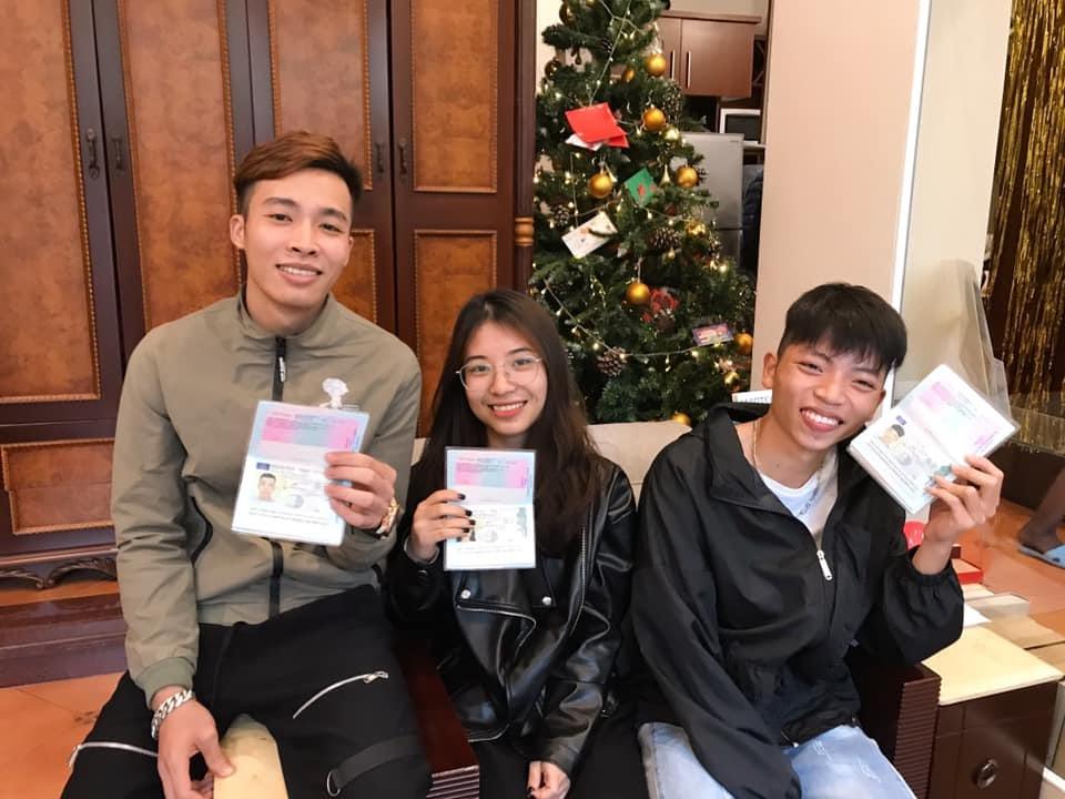 Học viên TRABI mới nhận visa
