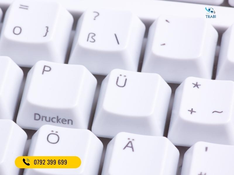 cài đặt bàn phím tiếng Đức